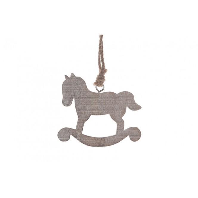 Cavallo A Dondolo Legno Natale.Cavallo A Dondolo Da Decorazioni Natalizie Ambroso